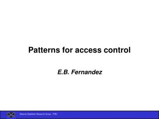 Patterns for access control