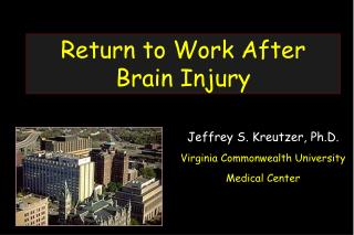 Return to Work After Brain Injury