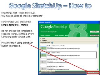 Google  SketchUp  – How to