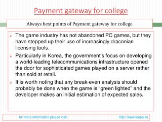 Best transaction site of payment gateway for college
