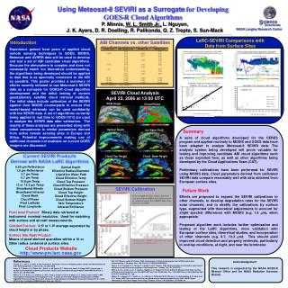 Using Meteosat-8 SEVIRI as a Surrogate  for Developing  GOES-R Cloud Algorithms