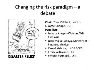 Changing the risk paradigm – a debate