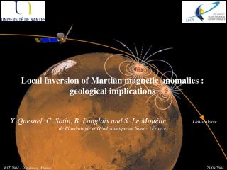 Local inversion of Martian magnetic anomalies :     geological implications