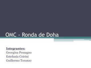 OMC - Ronda de Doha