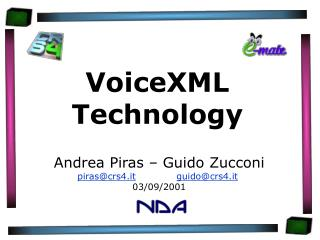 VoiceXML Technology