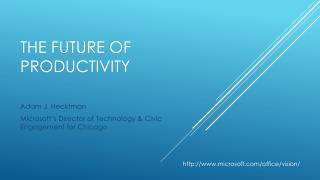 The future  of productivity