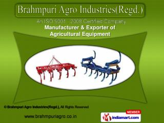 Agricultural Equipments  &  Land Leveller