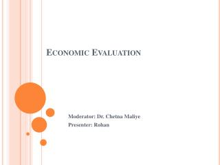 Economic Evaluation