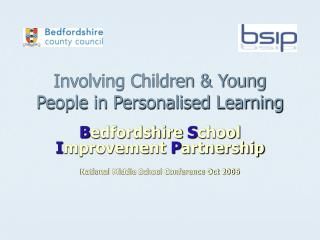 Involving Children & Young People in Personalised Learning