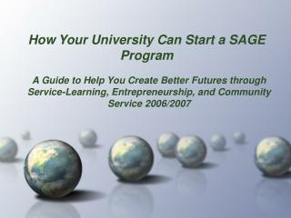 How Your University Can Start a SAGE Program