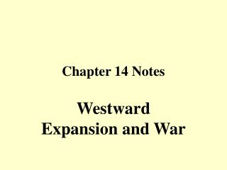 Chapter 14 Notes