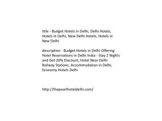 Budget Hotels in Delhi, Delhi Hotels, Hotels in Delhi, New D