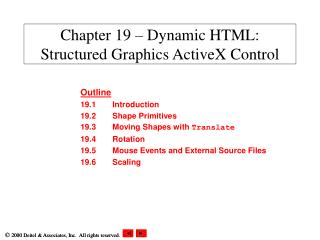 Chapter 19 – Dynamic HTML: Structured Graphics ActiveX Control