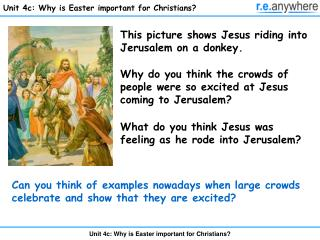 Unit 4c: Why is Easter important for Christians?