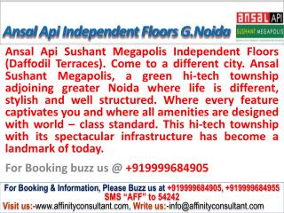 ansal megapolis floors daffodil terraces @ 09999684905