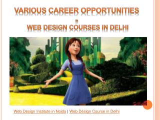 Various Career Opportunities In Web Design Courses in Delhi