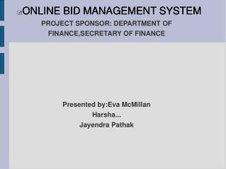 ONLINE BID MANAGEMENT SYSTEM