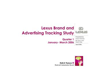 Lexus Brand and  Advertising Tracking Study