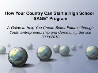 "How Your Country Can Start a High School ""SAGE"" Program"