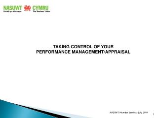 TAKING CONTROL OF YOUR PERFORMANCE MANAGEMENT/APPRAISAL