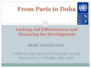 From Paris to Doha Linking Aid Effectiveness and Financing for Development