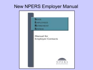 New NPERS Employer Manual