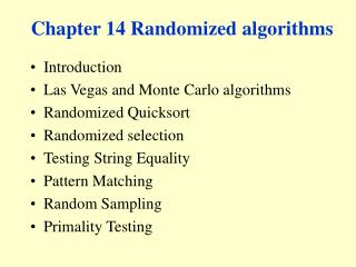 Chapter 14 Randomized algorithms