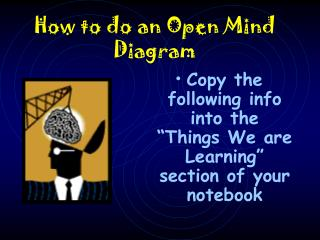 How to do an Open Mind Diagram
