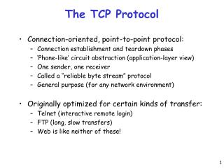 The TCP Protocol