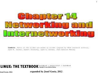 Chapter 14  Networking and Internetworking
