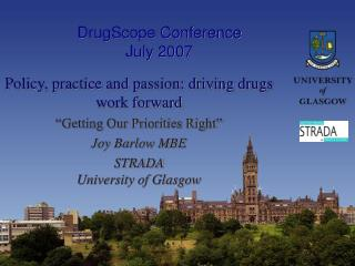 DrugScope Conference July 2007