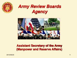 Assistant Secretary of the Army Manpower and Reserve Affairs