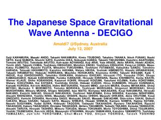 The Japanese Space Gravitational Wave Antenna - DECIGO