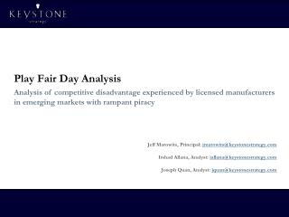 Play Fair Day Analysis