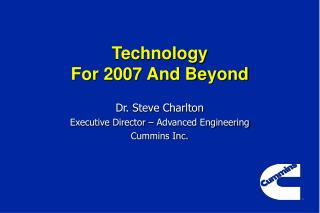 Technology  For 2007 And Beyond