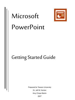 Microsoft PowerPoint Getting Started Guide