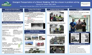 Emergent Transportation of a Patient Weighing 1000 lbs-a lesson in problem solving