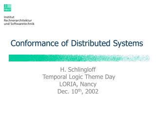 Conformance of Distributed Systems