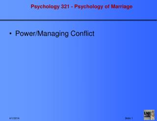 Power/Managing Conflict
