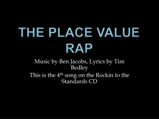 The Place Value Rap