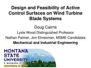 Design and Feasibility of Active Control Surfaces on Wind Turbine Blade Systems