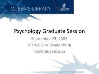Psychology Graduate Session
