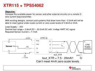 XTR115 + TPS54062
