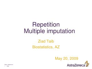 Repetition Multiple imputation