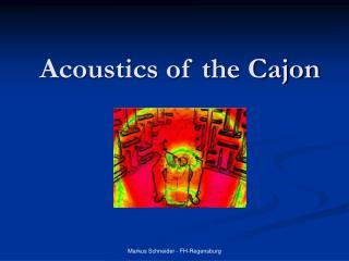 Acoustics of the Cajon