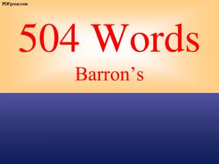 504 Words Barron's