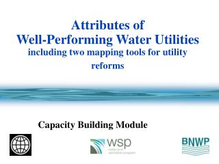 Attributes of  Well-Performing Water Utilities including two mapping tools for utility reforms