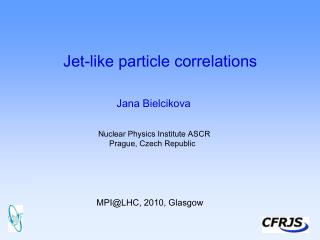 Jet-like particle correlations