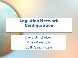 Logistics Network Configuration