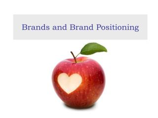 Brands and Brand Positioning